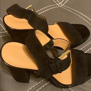 Black Calvin Klein heels never used